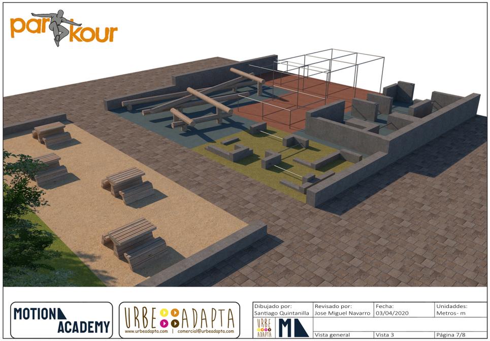 Diseño de Parkour Parks - Motion Academy Modelo 2