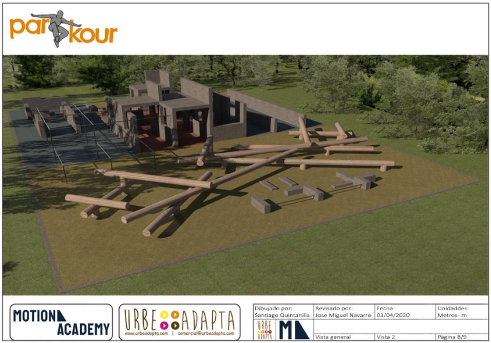 Diseño de Parkour Parks Motion Academy